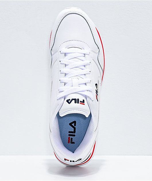 FILA Orbit Stripe White, Red & Navy Platform Shoes