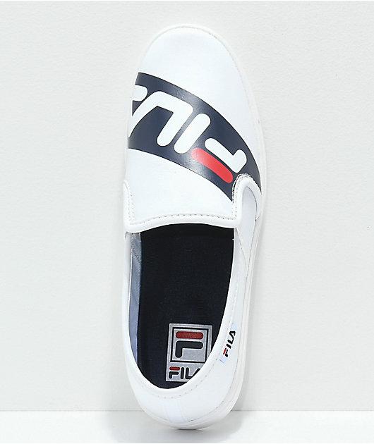 FILA Original Logo White Slip-On Shoes