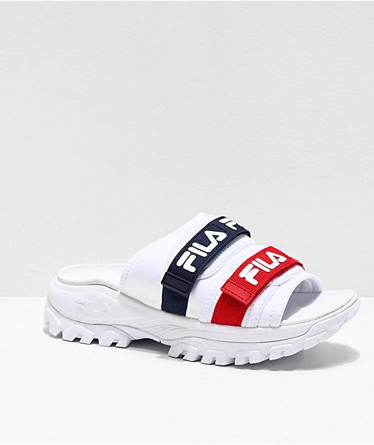 FILA Outdoor Red, White \u0026 Blue Slide