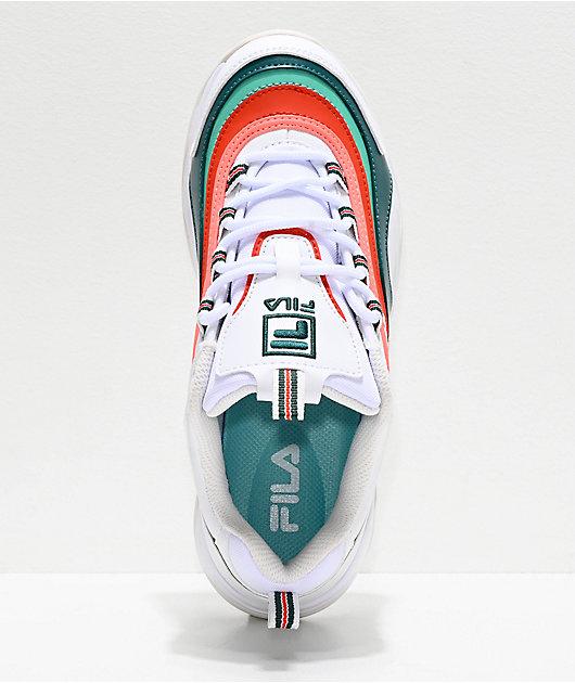 FILA Ray Miami White, Storm & Cherry Tomato Shoes
