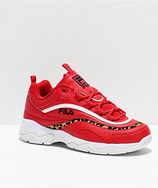 FILA Ray Red & Cheetah Shoes