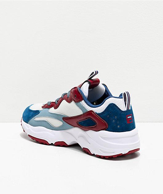 FILA Ray Tracer Blue & Maroon Shoes