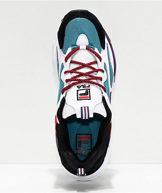 FILA Ray Tracer Harbor zapatos azules, blancos y negros
