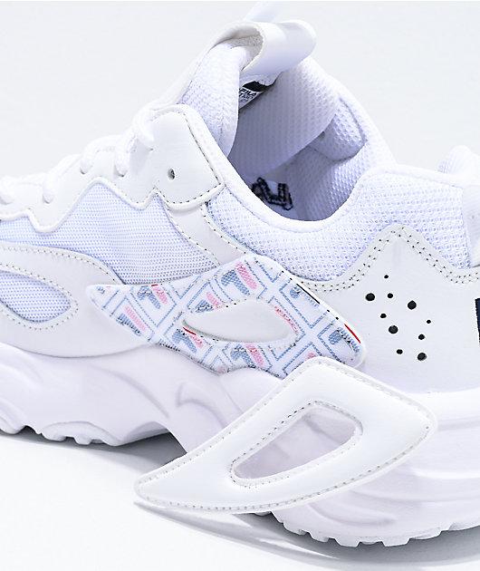 FILA Ray Tracer Logo Reveal zapatos blancos