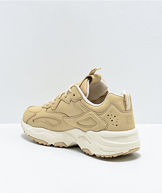 FILA Ray Tracer Nude & White Shoes