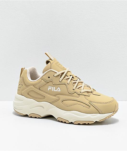 FILA Ray Tracer zapatos en beige y blanco