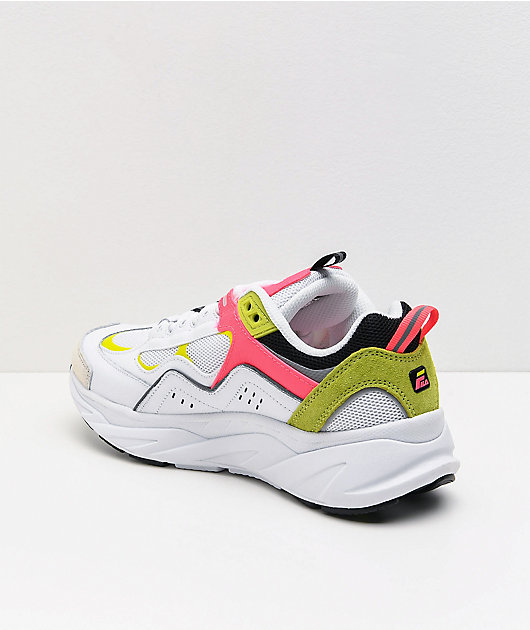 FILA Trigate Plus White & Safety Yellow Shoes