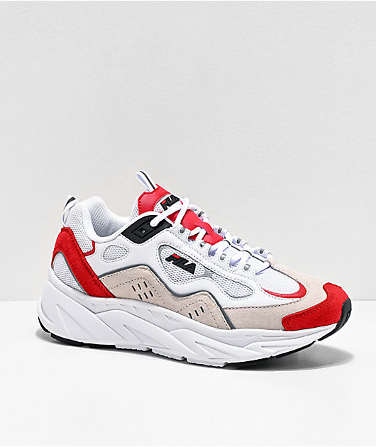 FILA Trigate Red, White & Cream Suede Shoes