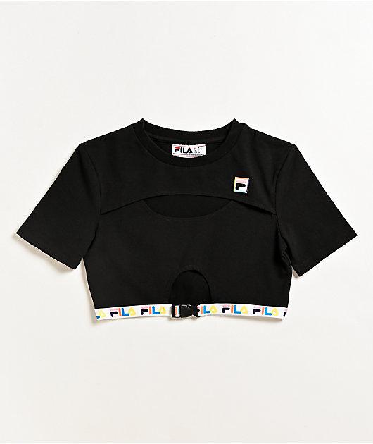 FILA Trish Black Crop T-Shirt