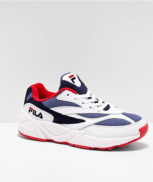 FILA V94M Red, White & Blue Shoes