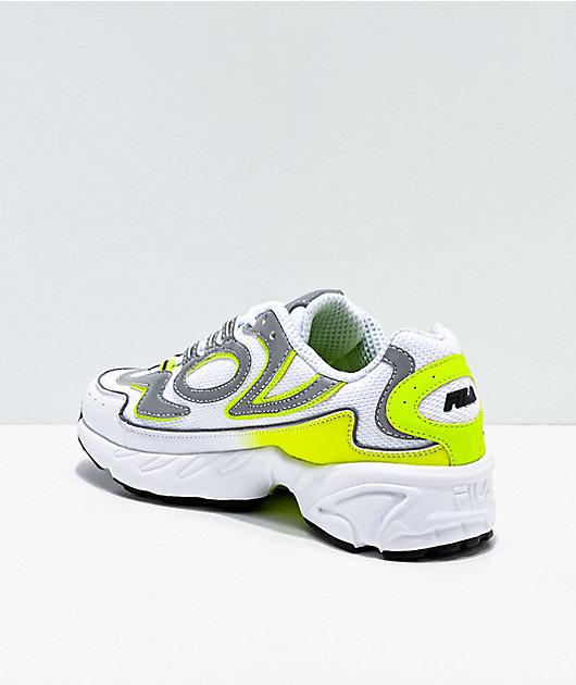 FILA Volante 98 White &  Yellow Shoes