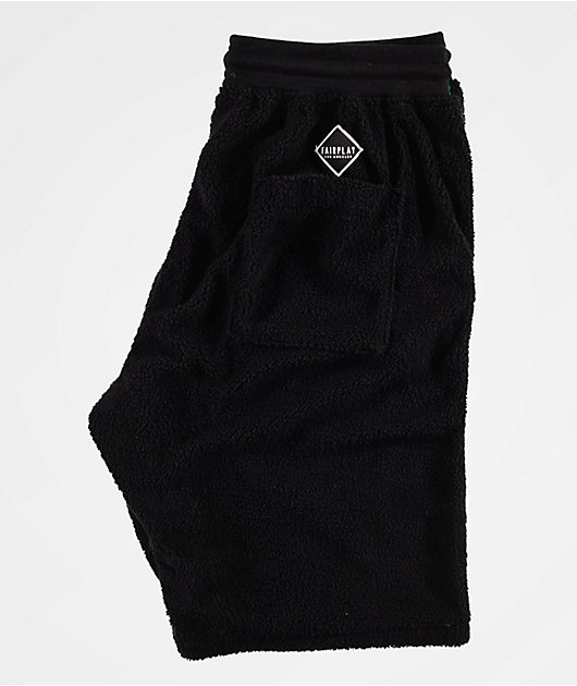 Fairplay Calypso shorts negros de sherpa