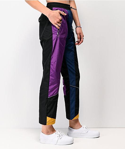 Favelo jogger pantalones negros, morados y azules