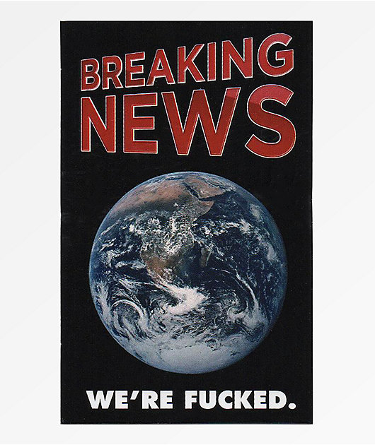Flying Coffin Breaking News Sticker