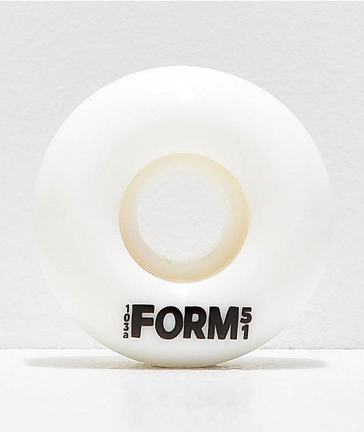 Form Solid White 51mm Skateboard Wheels