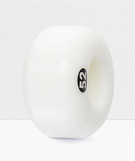 Form Solid White 52mm Skateboard Wheels