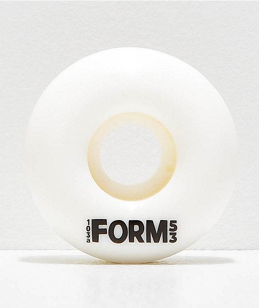 Form Solid White 53mm Skateboard Wheels