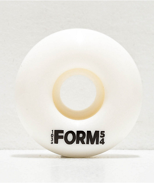 Form Solid White 54mm 103a Skateboard Wheels