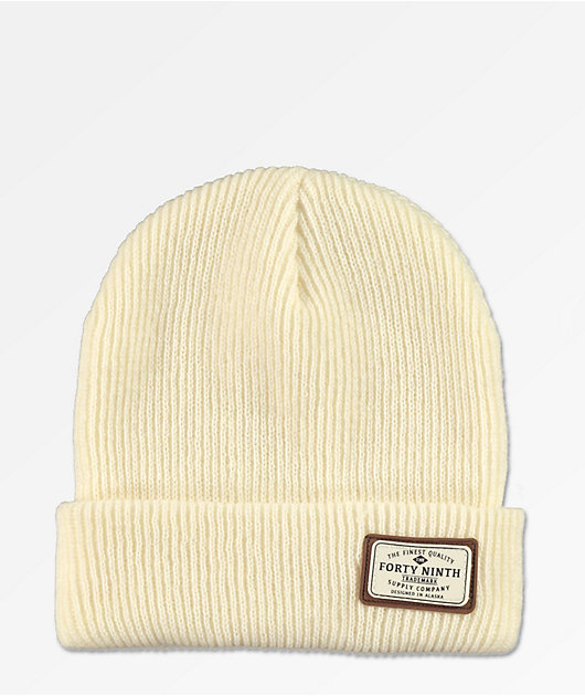 Forty Ninth Supply Co. Huntsman Off-White Beanie