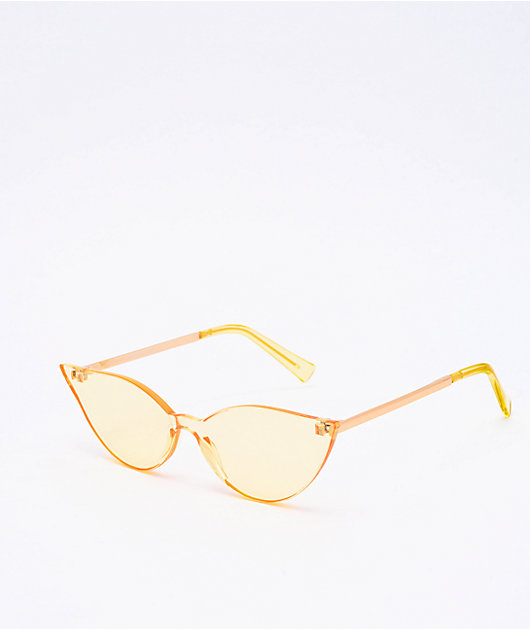 Freebird Clear Yellow Cat-Eye Sunglasses
