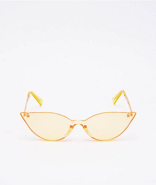 Freebird gafas de sol amarillas transparentes de ojo de gato