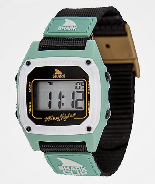 Freestyle Shark Classic Clip Green, Gold & Black Digital Watch