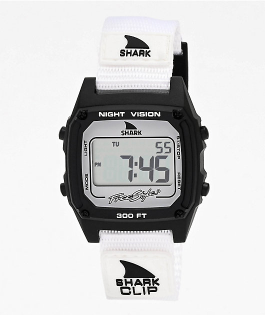 Freestyle Shark Classic Clip Monochrome Black & White Digital Watch