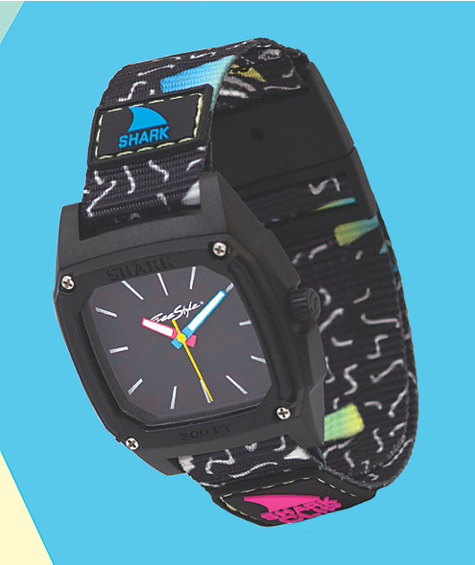 Freestyle Shark Classic Clip Wave & Black Analog Watch
