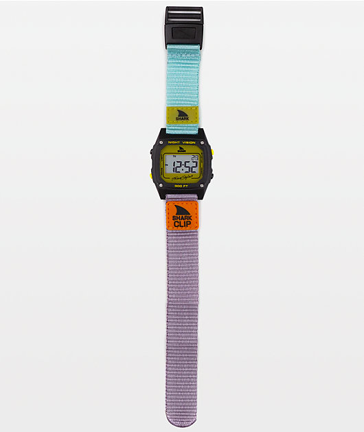 Freestyle Shark Classic Clip reloj digital turquesa, negro y mostaza
