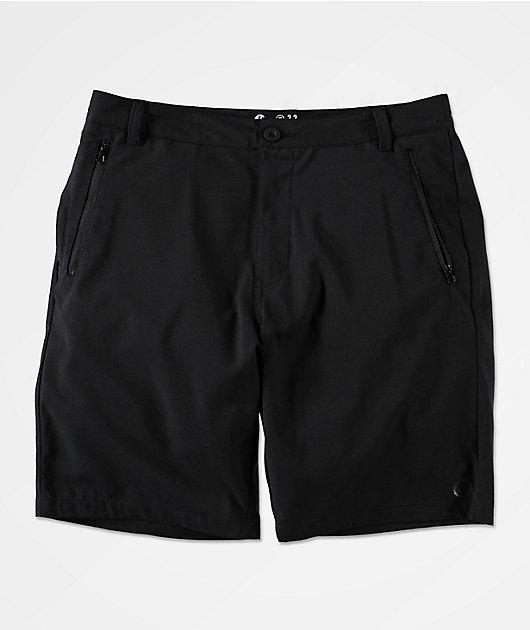 Freeworld Classified Black Hybrid Shorts