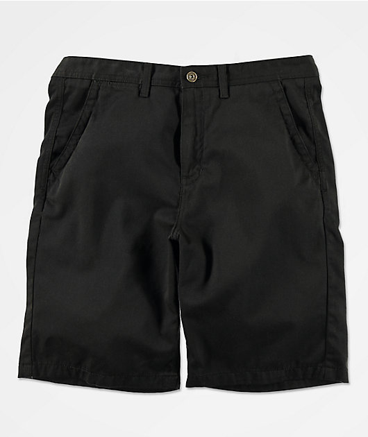 Freeworld Discord All Black Chino Shorts