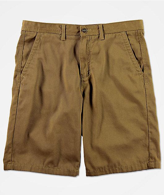 Freeworld Discord Dark Khaki Chino Shorts