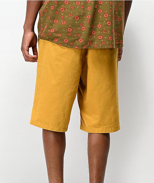 Freeworld Discord Dark Yellow Chino Shorts
