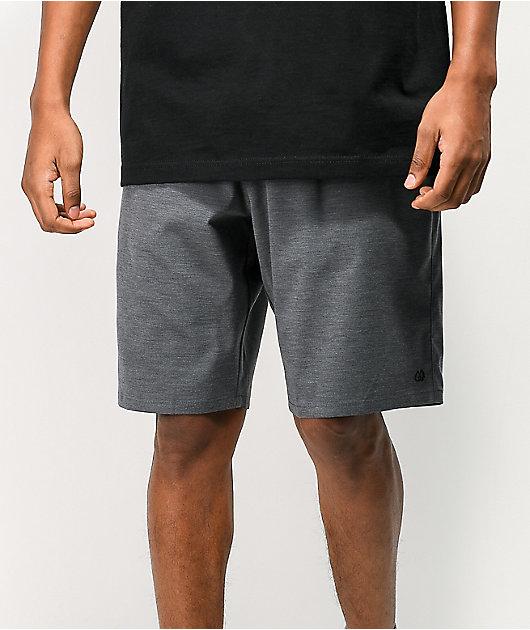 Freeworld Glassy Charcoal Hybrid Board Shorts