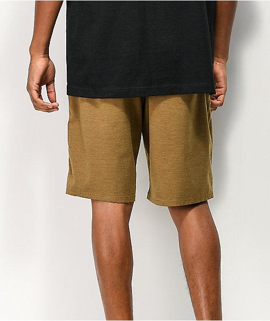 Freeworld Glassy Light Tobacco Hybrid Board Shorts