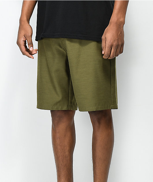Freeworld Maverick Dark Green Hybrid Shorts
