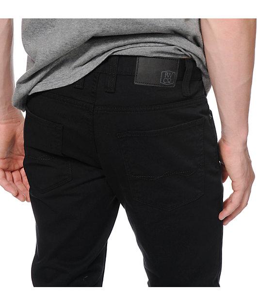 Freeworld Messenger 5 Pocket Twill Black Pants