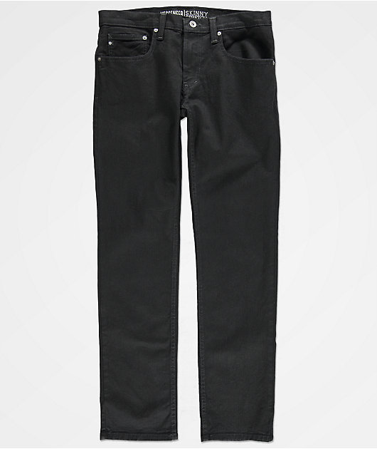 Freeworld Messenger Pure Black Stretch Skinny Jeans