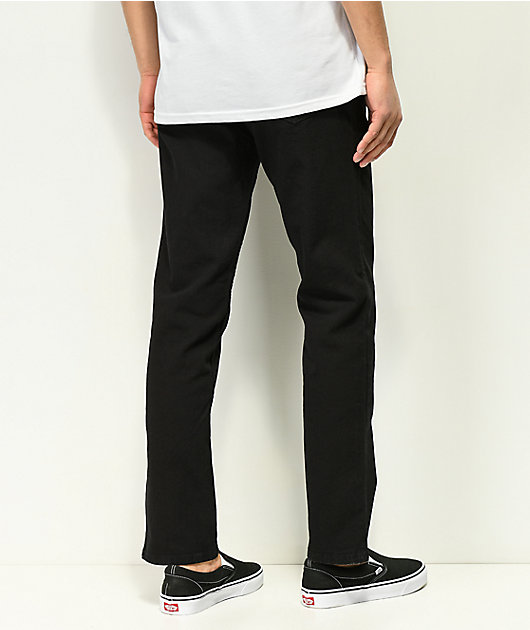 Freeworld Night Train Stretch Pure Black Jeans