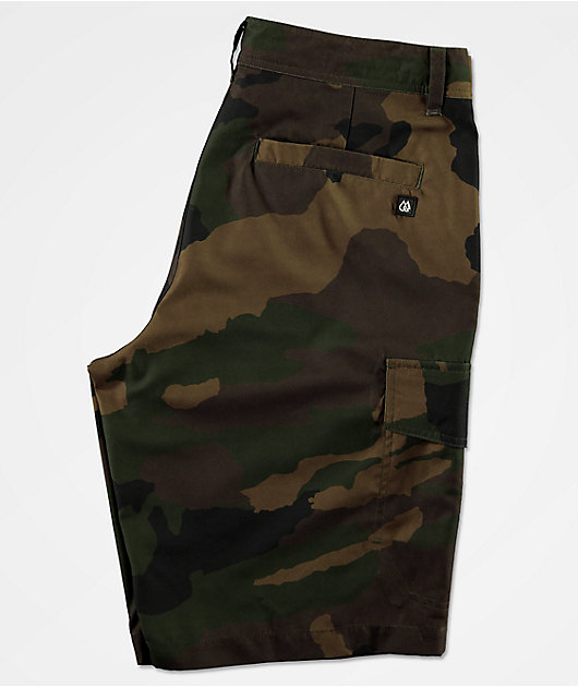 Freeworld Smashing Woodland Camo Cargo Hybrid Shorts