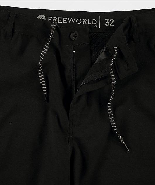 Freeworld Ultraist Stretch Tech Black Board Shorts