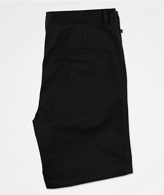 Freeworld Walker All Black Chino Shorts