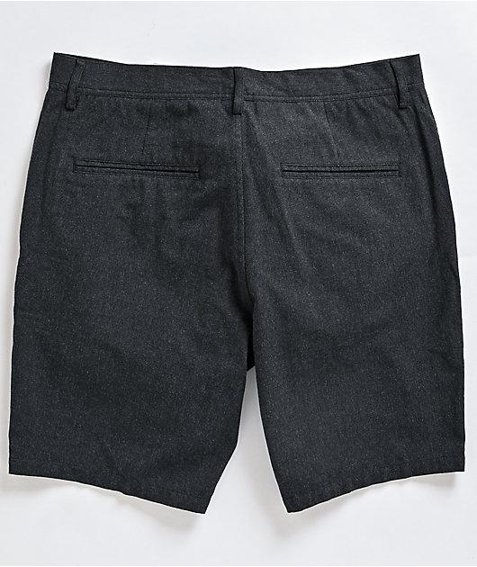 Freeworld Walker Heather Black Chino Shorts