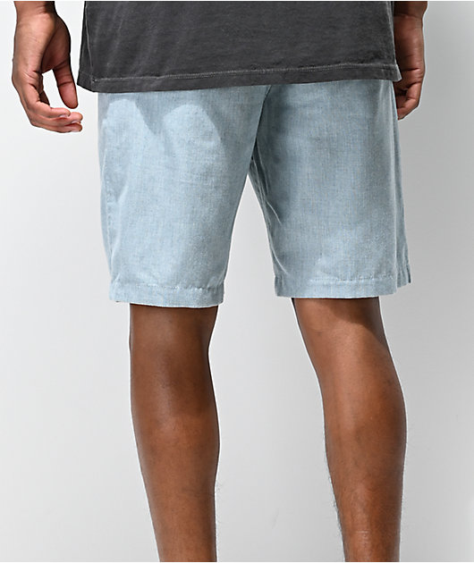 Freeworld Walker Heather Blue Chino Shorts