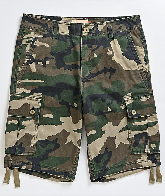 Freeworld Wreckage Camo Cargo Shorts