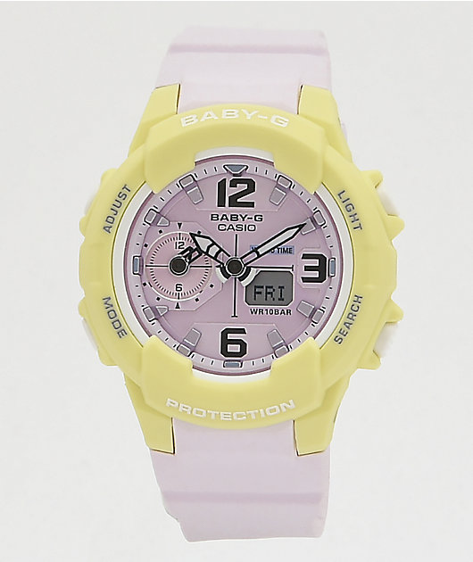 G-Shock Baby-G Lavender & Yellow Digital Watch