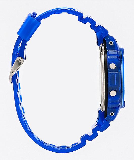 G-Shock DW5600 Clear Blue Digital Watch