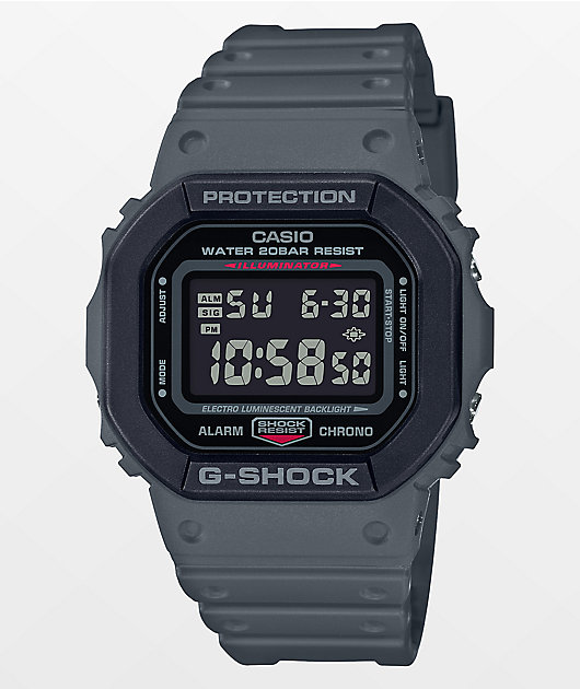 G-Shock DW5610SU Grey & Black Digital Watch