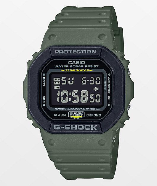 G-Shock DW5610SU Olive Green & Black Digital Watch