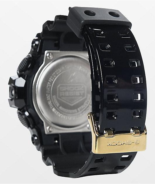 G-Shock GA-170 Garish reloj en negro y color oro
